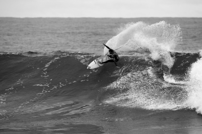 Behold the speed and torque of a Parko carve. That's Detroit muscle. He should be in Ford commercials. Photo: Ed Sloane