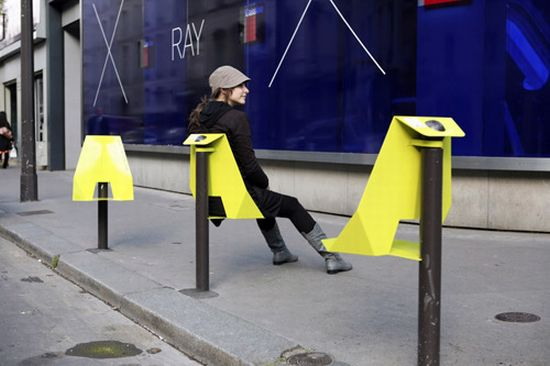 The interesting seat on a pole in Paris from Damien Gire in 2009. Street and Urban Furniture Around The World   SkyscraperCity